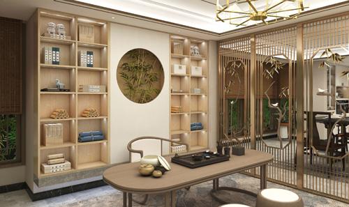 客厅书房一体化设计 让小户型变大空间